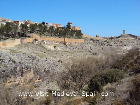 The impressive natural and manmade defences of Alarcon, Spain