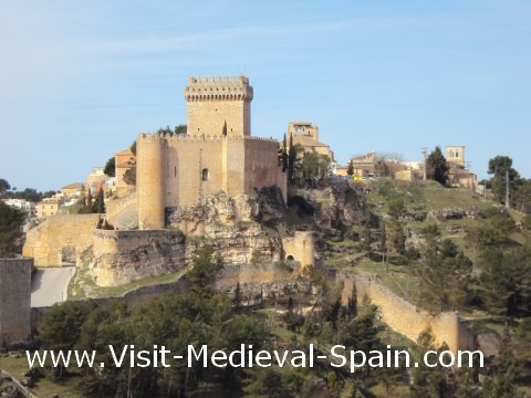 The medieval castle at Alarcon, Spain