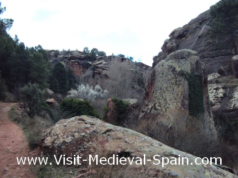 Photo taken as we walked the footpath which leads to the prehistoric cave paintings near to Albarracin