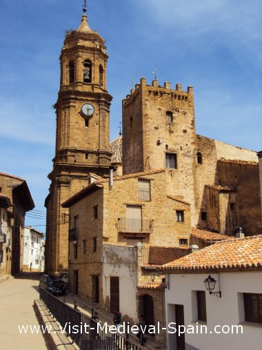 The medieval village of La Iglesuela del Cid, near Teruel