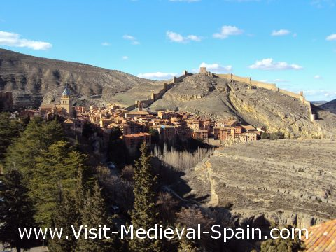 Medieval town of Albarracín, near Teruel Spain