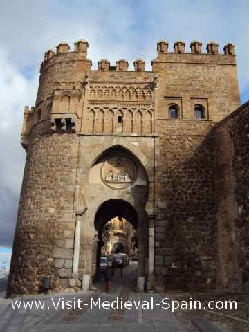 The Babal Mardum Gate, Toledo. Close up photo of one of the gateways which controlled access to the walled city of Toledo.