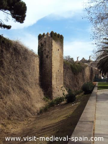 All that's left of Barcelona's medieval fortified walls.