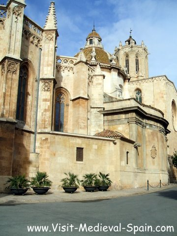 Photo of the medieval Cathedral in Tarragona, Spain