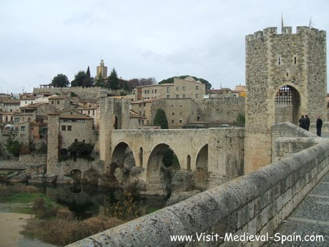 Photo of the Medieval Bridge at Besalu,Catalunya,Spain