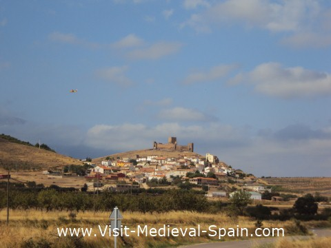 The Medieval Castle and village of Trasmos in the Sierra de Moncayo near Zaragoza, Spain