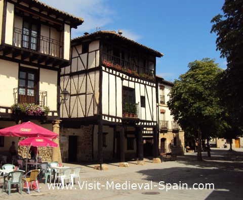 Photo of the 15th Century Casa de Dona Sancha half timbered house in Covarrubias, Castile - Spain