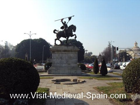 Statue of Spanish hero el Cid