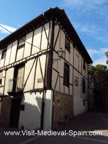 A timber framed medieval house