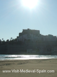 The castle and beach at Peniscola